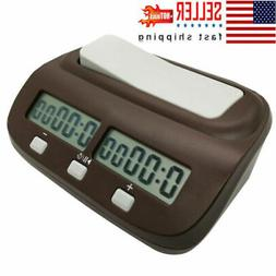 Professional Chess Clock Digital Board Game Counting Alarm A