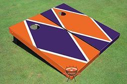 Purple and Orange Alternating Diamond Corn Hole Boards Cornh
