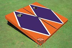 Purple and Orange Matching Diamond Corn Hole Boards Cornhole