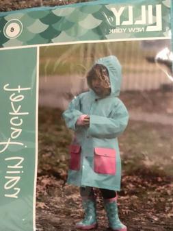Lilly Of New York Rain Jacket Girls Mermaid Print Size 6 New