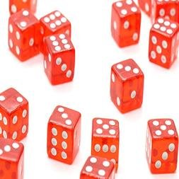 RTNOW Standard 16MM Red Dice with White Pips Dots Fit For Ac