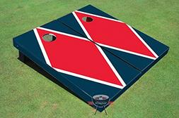 Red and Navy Matching Diamond Corn Hole Boards Cornhole Game