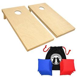 GoSports Regulation Size Wooden CornHole Set Includes 8 Prem