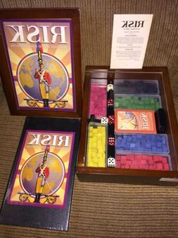 RISK Board Game Vintage Collection Wooden Bookshelf Style Bo
