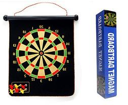 """17"""" Magnetic Roll-up Dart Board and Bullseye Game with 6 Dar"""