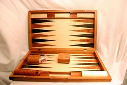 Yellow Mountain Imports Rosewood Backgammon Game Set, 19 Inc