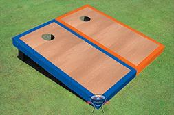 Rosewood Royal Blue and Orange Border Corn Hole Boards Cornh