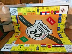 ROUTE 66 MONOPOLY TYPE BOARD GAME RARE AUTOGRAPHED ON BOARD