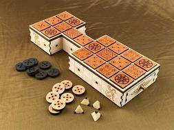 Royal Game of Ur! 20 Squares! Beautiful Craftsmanship! Birch