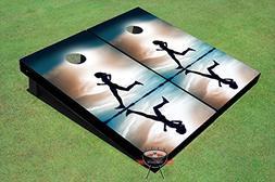 Girl Running Theme Corn Hole Boards Cornhole Game Set