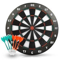 Safety Dart Set with 6 Soft Tip Darts Game Room Board Games
