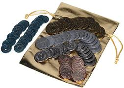 Scythe Metal Coins _ Game Enhancement _ 80 Coins in Various