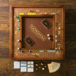 Sealed Monopoly Luxury Edition Board Game Wood/Faux Leather