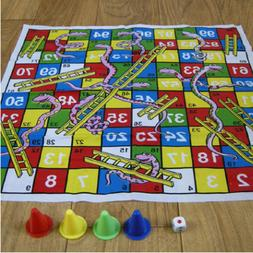 Snake and Ladder Floor Mat Board Game new condition Dice Gam