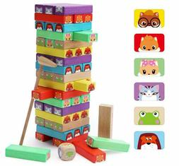 Stacking Game Wooden Building BlocksTower Board Games for Ki