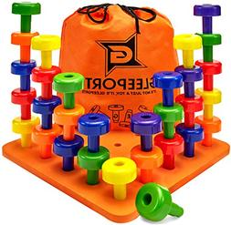 Stacking Peg Board Set Toy - Montessori Occupational Therapy