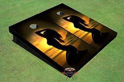 Girl Sun Set Themed Corn Hole Boards Cornhole Game Set