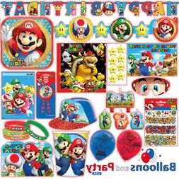 Super Mario Bros Gaming Birthday Party Tableware Decorations