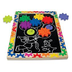 Melissa & Doug Switch and Spin Magnetic Gear Board - Educati