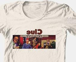 Clue T-shirt retro board game 1980's vintage toy 100% graphi