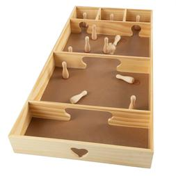 tabletop or floor wooden skittles game portable