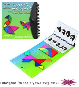 Tangram Game Travel Games Magnetic Green 176 Puzzle Travel T