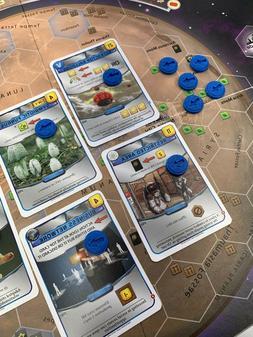 Terraforming Mars Board Game - Action Marker Tokens for Blue