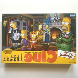 The Simpsons CLUE Board Game 2nd Edition 2002 Hasbro Parker