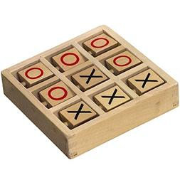 Tic-Tac-Toe Wooden Travel Board Game With Rotating X's and O