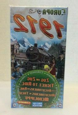 Ticket To Ride Europa 1912  Board Game Expansion NEW Rare OO