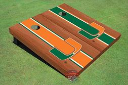 University of Miami Orange Rosewood Alternating Long Strip C