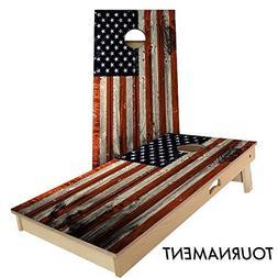 Slick Woody's Vertical American Flag 4' by 2' Tournament siz