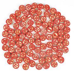 Vintage Tombola Game Tombolini Tiles    Wooden Italian Bingo