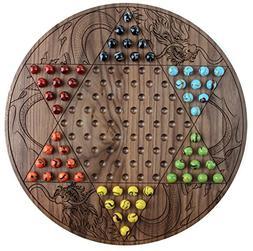 Premium Walnut Chinese Checkers Board Game