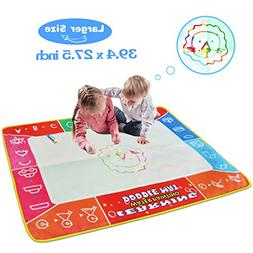 Meland Large Water Doodle Mat Colorful 39.4 X 27.5 Inch Magi