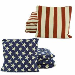 Weather Resistant Cornhole Bean Bags Set of 8 Stars & Stripe