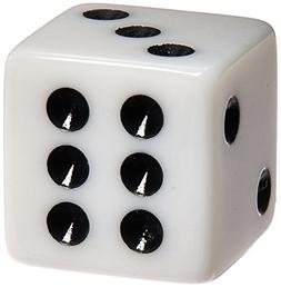 C&H Solutions Standard 16mm White Dice with Black Pips Dots