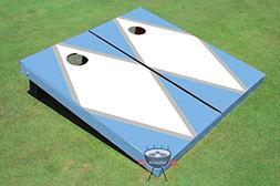 White and Unc Blue Matching Diamond Corn Hole Boards Cornhol
