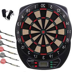 WINMAX Electronic Soft Tip Dartboard Set LCD Display with 6