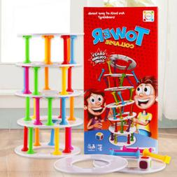 Wobbly Tower Collapse Game Stacking Column Board Games Chil