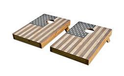 Wood American Flag DesignCornhole/Bean Bag Toss Board Set