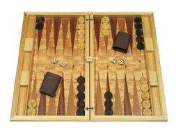 Dal Negro Wood Backgammon Board Game Set - Poplar Root