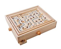 Topwon Wood Labyrinth Table Maze / Balance Board Table Maze
