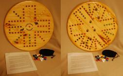 Wooden Aggravation Game Board --Double sided -- 2 to 6 playe