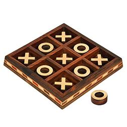 Wooden Handcrafted Tic Tac Toe Board Game for Adult Kids 5.5