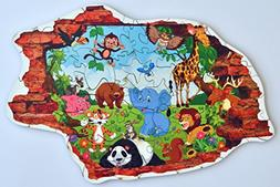 Hartmaze Wooden jigsaw puzzles - Animals Family HM-01A  onli