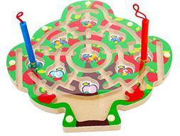 Toys of Wood Oxford Wooden Magnetic Labyrinth Fruit Tree Cou