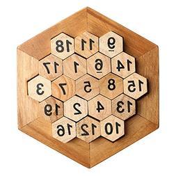 Wooden Digital Platter Puzzle,Classical Puzzle Toys Brain Te