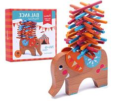 Wooden Puzzle Stacking Building Blocks Balance Board Table G