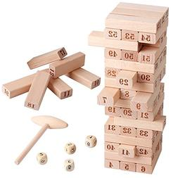 Wooden Stacking Board Math Games Tumble Tower Building Block
